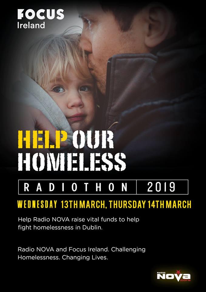 Radio Nova's Homeless Radiothon 2019 raises €86,656 for Focus Ireland