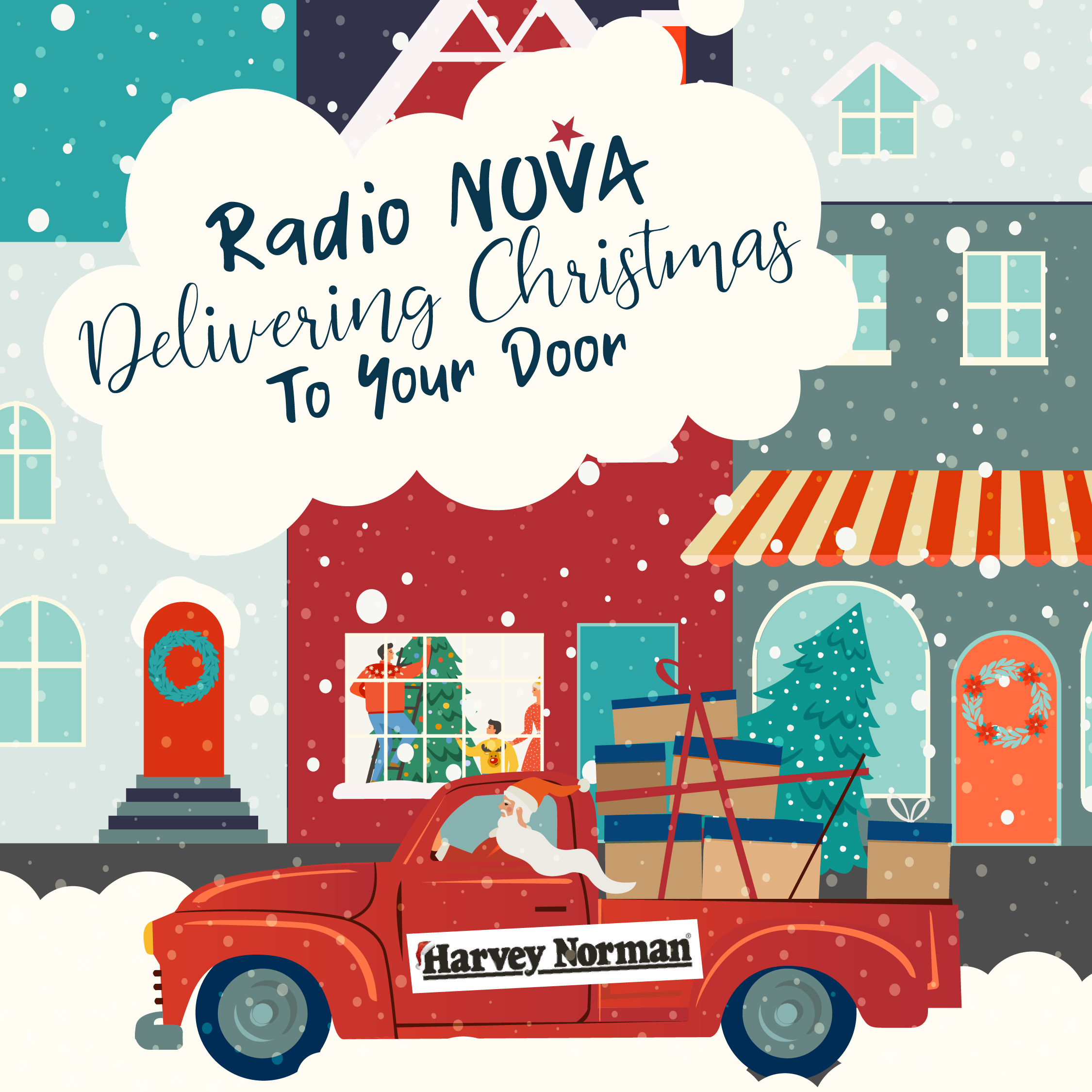 Radio Nova & the Harvey Norman Doorman Bring Xmas to your Door!